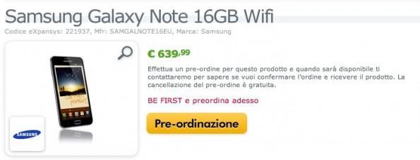 News | Galaxy Note è online il preordine italiano e il prezzo con Tim e con il suo abbonamento...