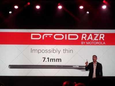 Novità Terminali| E' stato presentato il nuovo Motorola Droid Razr