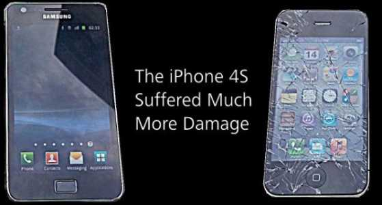 News | Video/confronto tra Galaxy S2 e iPhone4s nella resistenza: il Galaxy s2 batte di tanto il suo rivale.....