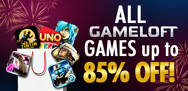 Novità Games| Gameloft New Year's Sale!!!