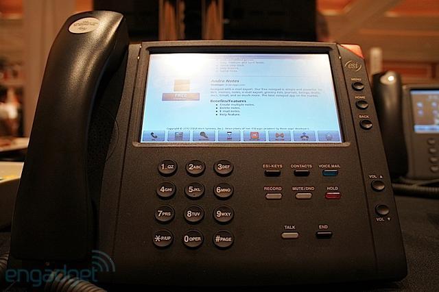 News | Telefono fisso da scrivania con Android 2.2