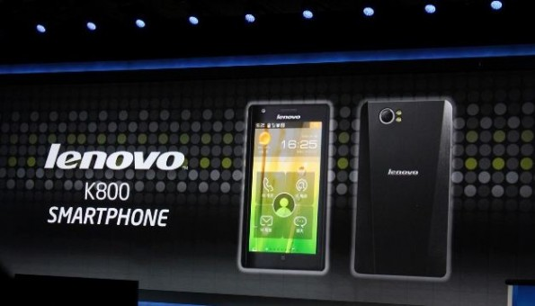 News Terminali | Lenovo K800: ecco il primo smartphone con processore Intel e Android 4.0