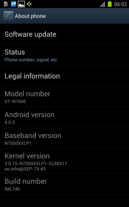 Novità Roms | Leak Android ICS Per Samsung Galaxy Note N7000 da SamMobile [AGGIORNAMENTO]