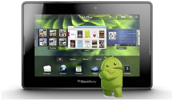 News Tablet | Aggiornamento per il Playbook: compatibilità con applicazioni Android