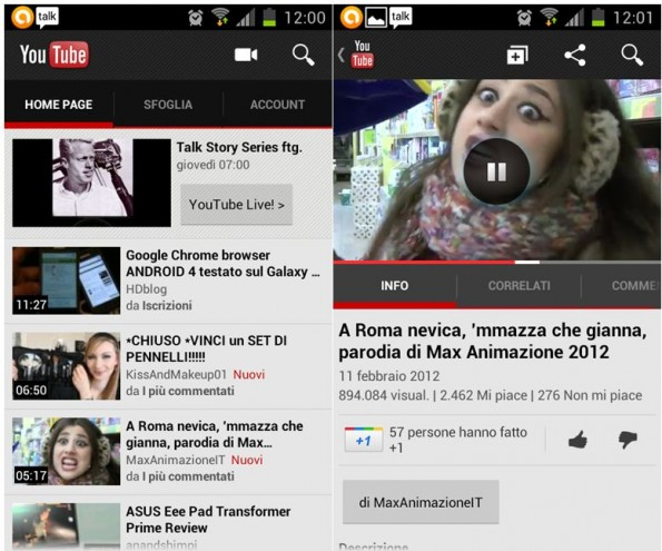 News | YouTube aggiornamento
