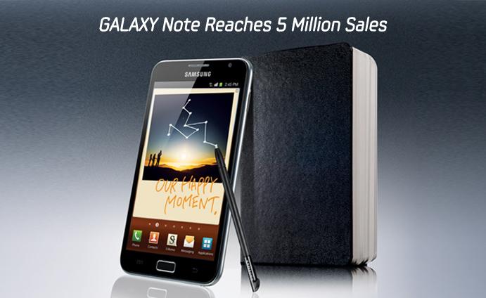 News Terminali | Il Galaxy Note ha venduto 5 milioni di unità, e l'arrampicata continua