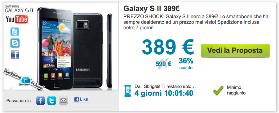 News | Galaxy S2 a 389€ con Groupalia