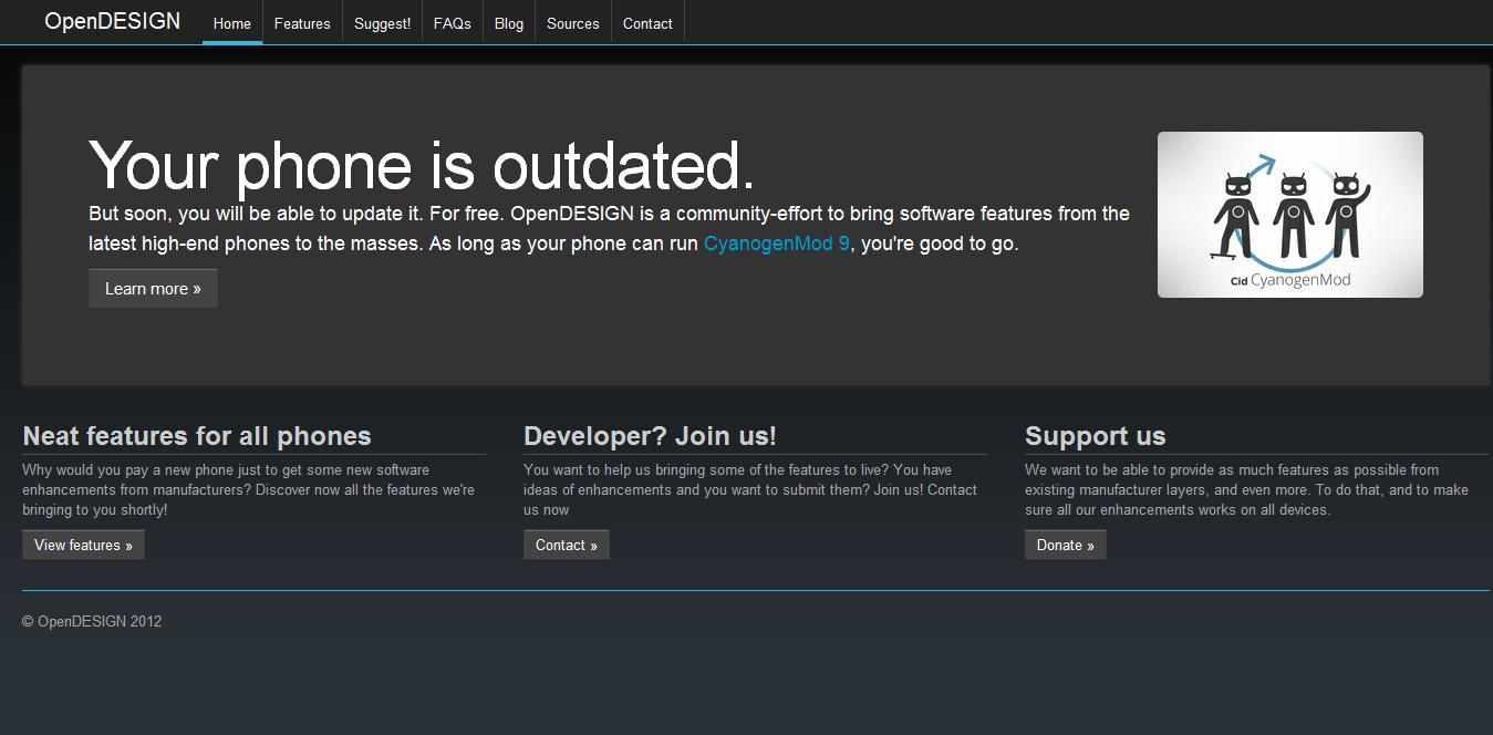 News | OpenDESIGN, la marcia in più di CyanogenMod 9
