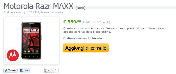 News Terminali | Motorola Razr Maxx disponibile su Expansys!