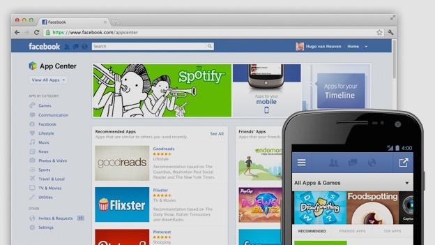 News | Arriva l'App Center di Facebook, lo store di applicazioni per Android