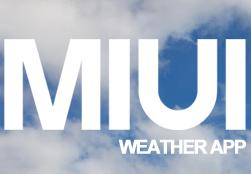 News Apps | Miui Weather per tutti i dispositivi [apk]