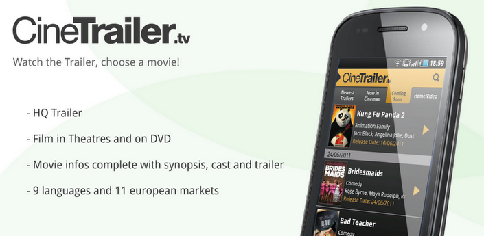 News App | L'app per i patiti del cinema:CineTrailer.tv