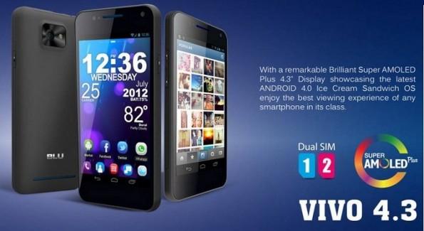 Novità Terminali  Blu Vivo: Il primo smartphone Dual SIM con display Super AMOLED Plus