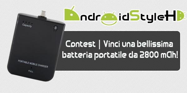 Novità| ESTRAZIONE CONTEST batteria portatile da 2800 mAh