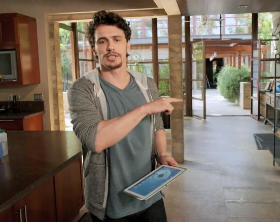 Novità| James Franco presenta il nuovo spot del Galaxy Note 10.1