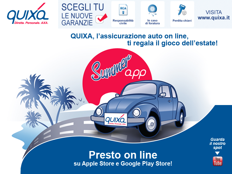 Novità| Quixa Summer App disponibile da ieri su Play Store