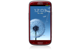 GALAXY SIII_garnet red_front_light