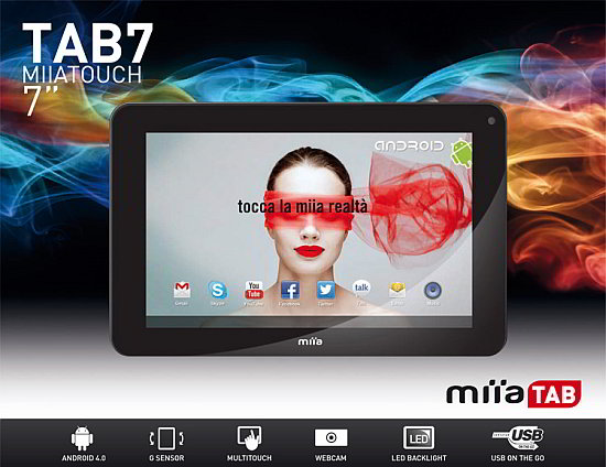 Novità Terminali| Miia Touch Tab7: un tablet low cost, made in Italy