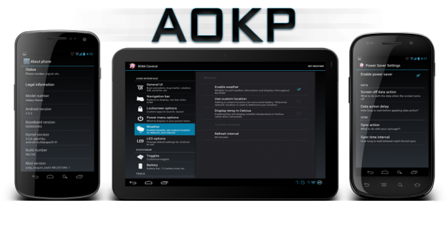 News Terminali | AOKP: Arriva la Build 3