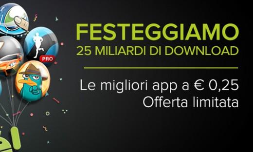 Novità Apps| Google festeggia i suoi 25 miliardi di download con App a 0,25 €!