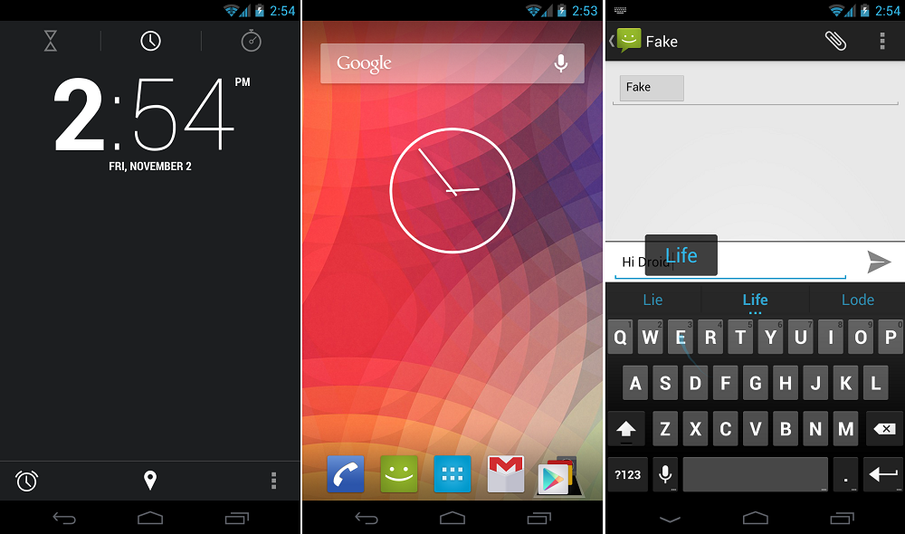 News App | Disponibile Tastiera ed Orologio Android 4.2