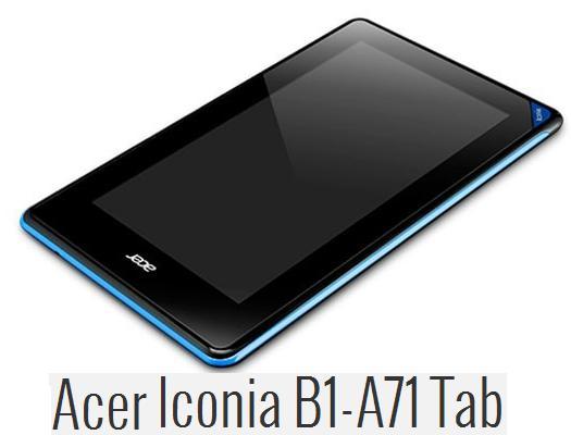 News CES 2013 | Acer Iconia B1-A71 da Gennaio a 119 Euro
