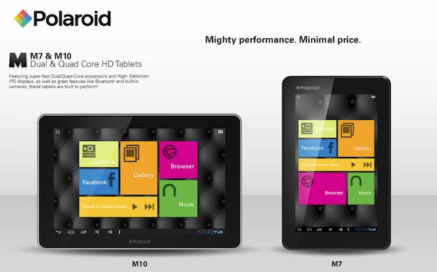 Novità CES 2013| M7 e M10: Le nuove tavolette di Polaroid al CES 2013