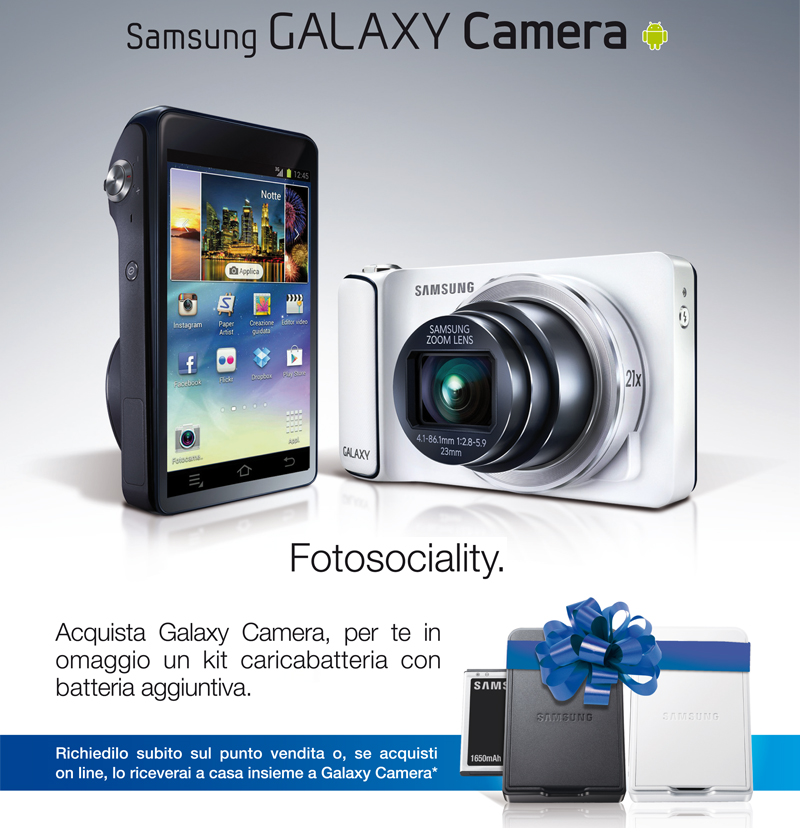 Acquisti Intelligenti| Acquista una Galaxy Camera e per te un kit in omaggio!