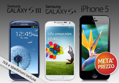 Acquisti Intelligenti| S4, iPhone5 e Galaxy S3 a META' PREZZO!