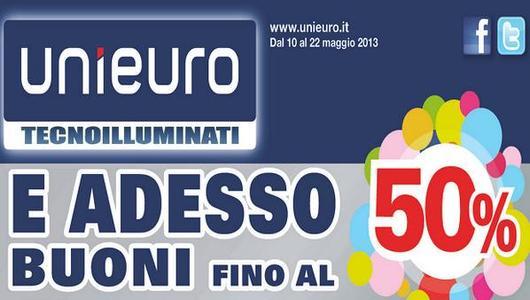 Acquisti Intelligenti| Da UniEuro buoni sconto fino al 50%!