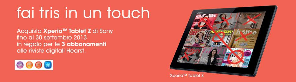 Novità| Scegli Xperia Tablet Z e fai il tris per tutto l'anno!