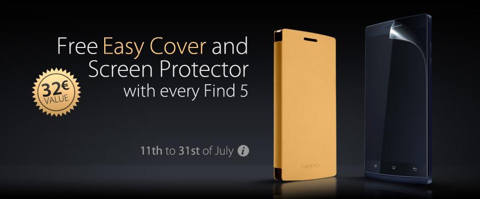 Novità| Con l'acquisto del nuovo Find 5 per te in regalo cover e proteggi schermo!