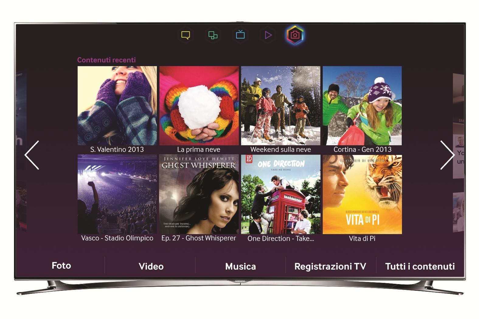 SMART TV F8000_SMART HUB_Foto, Video e Musica