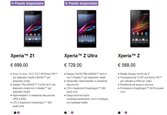 News | Xperia Z Ultra e Xperia Z1 preordini e prezzi ufficiali.