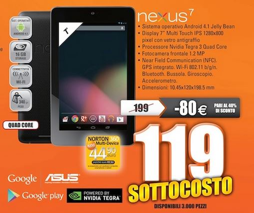 nexus-7-sottocosto