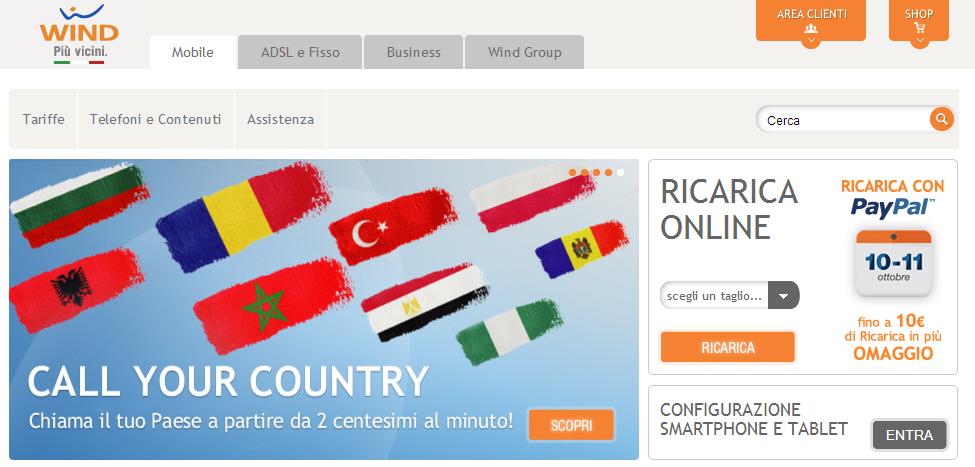 Wind - Telefonia mobile, offerte internet mobile, tariffe smartphone