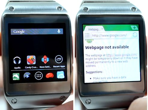 News | Le normali apps Android girano su Galaxy Gear ecco il video!