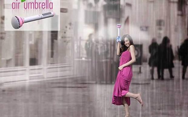 L'ombrello del futuro che respinge la pioggia