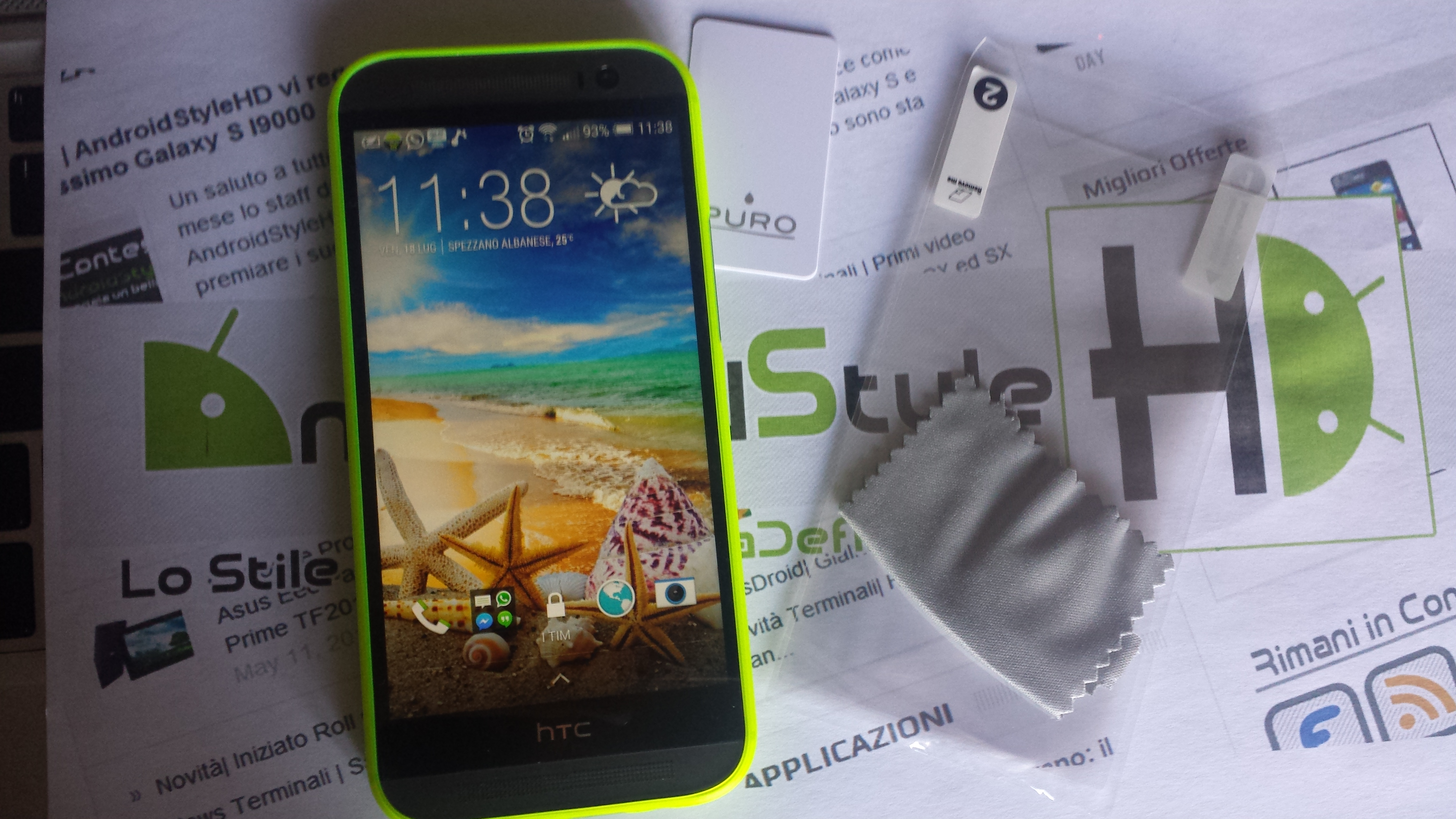 Cover Puro 0.3 Collection per HTC ONE M8 la nostra recensione.