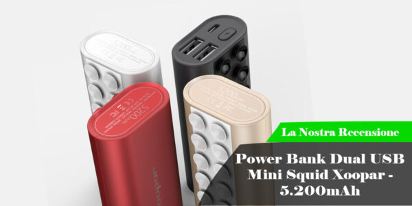 Power Bank Dual USB Mini Squid Xoopar - 5.200mAh