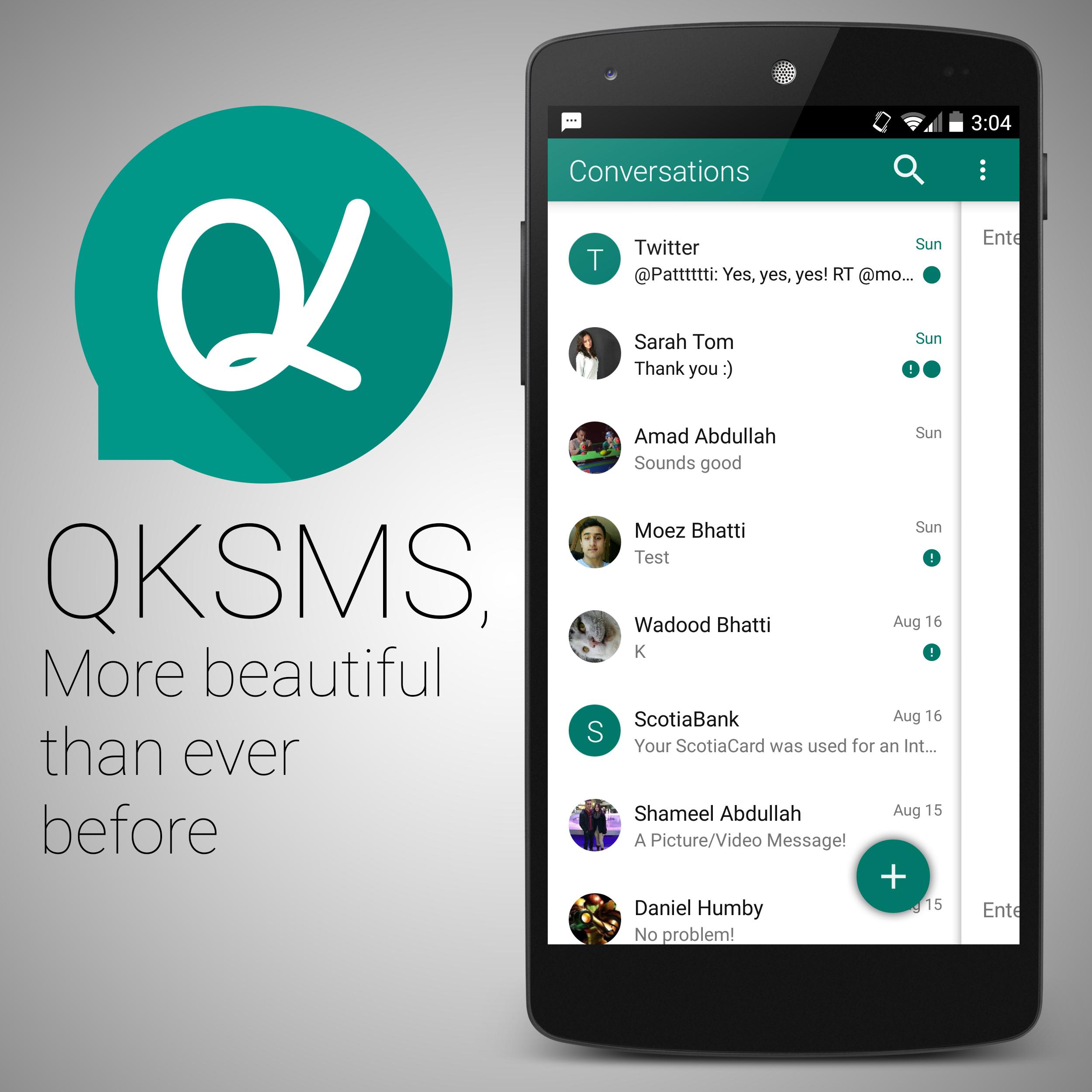QKSMS: un'app per gli sms in stile