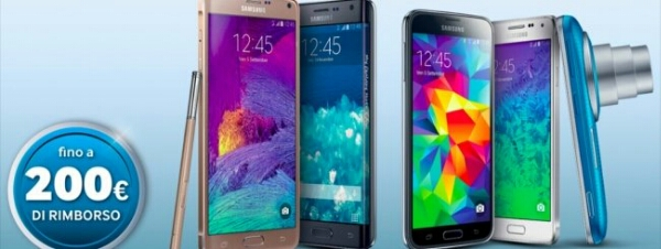 Samsung ti offre fino a 200€ di rimborso per l'acquisto di un nuovo top di gamma !