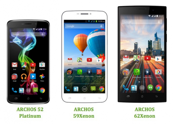 Archos pronta per il MWC con gli smartphone 50 Oxygen Plus e la serie