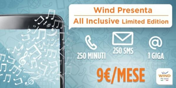 Wind lancia la nuova All Inclusive in Limited Edition