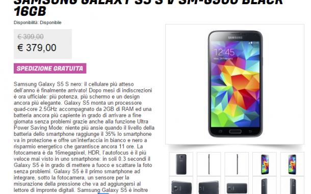 Samsung Galaxy S5 in offerta a 379,00€