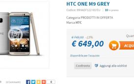 HTC ONE M9 al prezzo più basso del web, eccolo a soli... 649 euro!