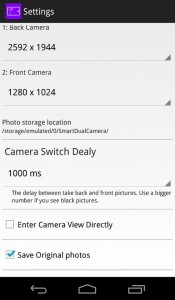 Smart Dual Camera Android 4