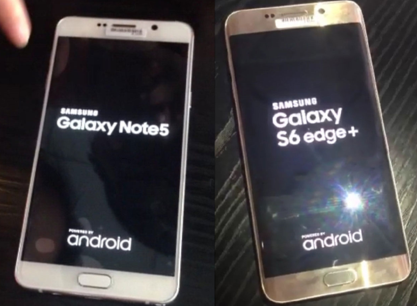 Samsung Note 5 ed S6 Edge Plus ancora in foto