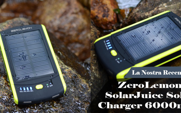 ZeroLemon Batteria Solare da 6000mAh: mai più senza carica!