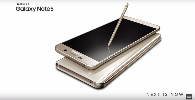 Il Primo spot per il Samsung Note 5